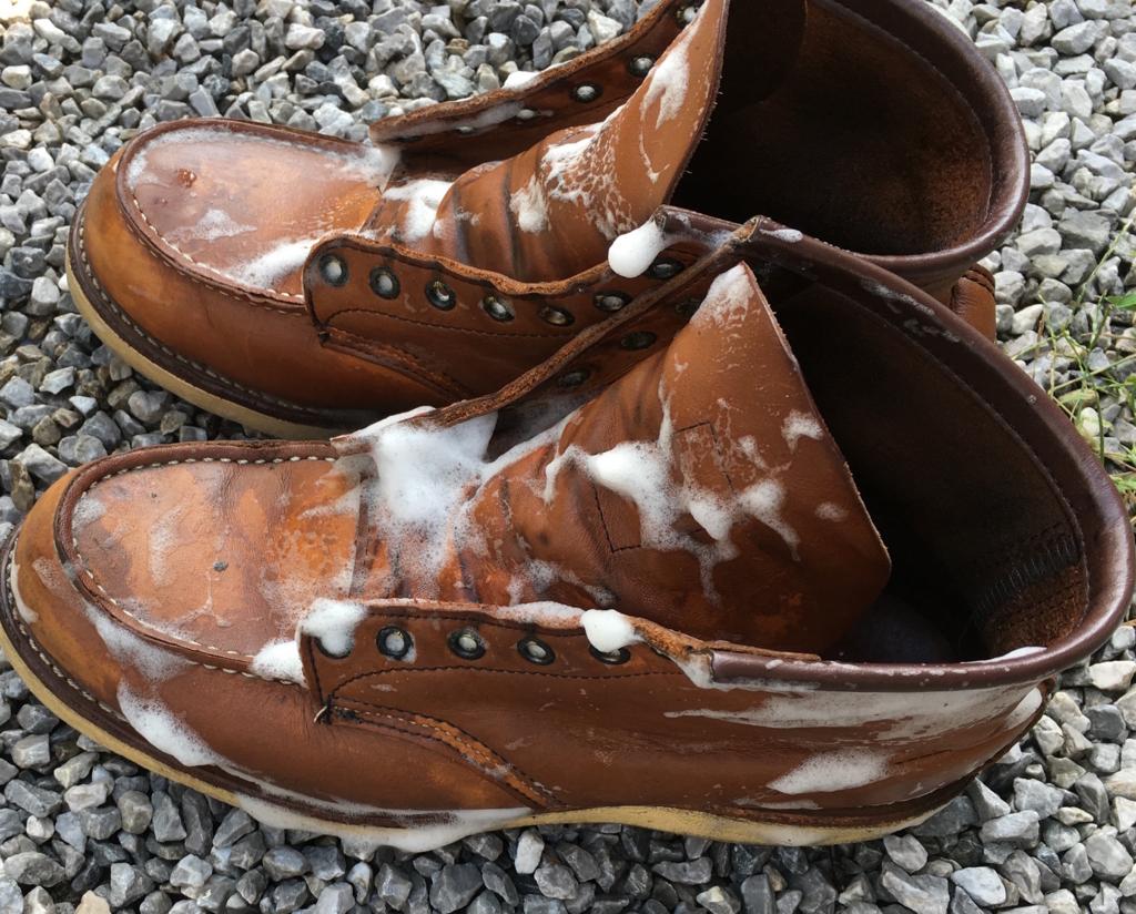 【レクソル】レッドウィングのブーツをおもいっきり水洗いしてみた!〜皮水洗いとか正気の沙汰じゃないっすよ〜【レザークリーナー】