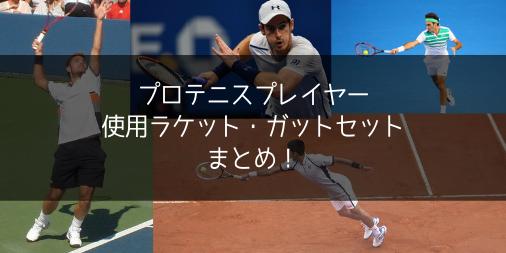 プロテニスプレイヤーの使用ラケット・ガットセット・プロストック情報まとめ