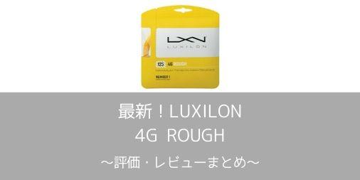 【LUXILON】4G ROUGHの評価・レビュー・インプレまとめ【スピンのかかる4G】
