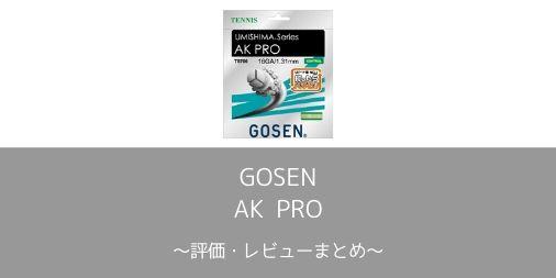 【GOSEN】AK PROの評価・レビューまとめ【インプレ】