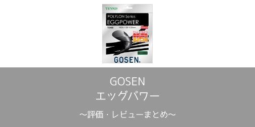 【GOSEN】エッグパワーの評価・レビューまとめ【インプレ】