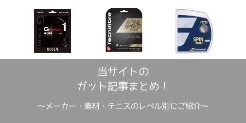 メーカー・素材・レベル別ガット記事まとめ
