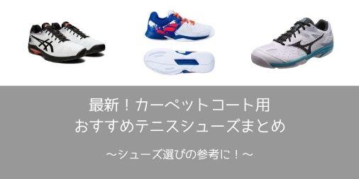 【最新】カーペット用テニスシューズの選び方・おすすめまとめ【インドア必須】